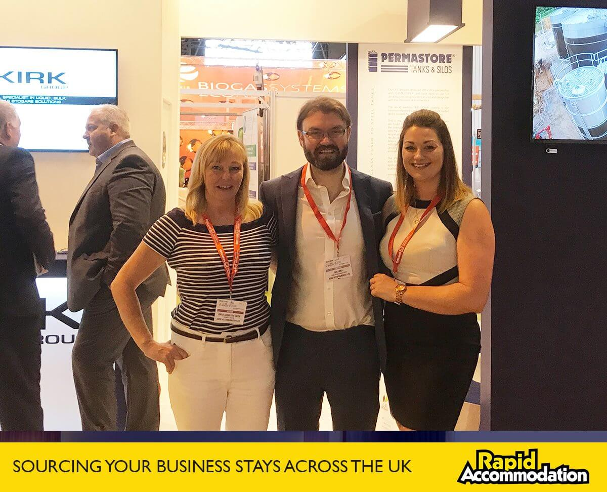 Our Director, Linda, catches up with Kirk UK and LRES at ADBA World Biogas Expo 2017
