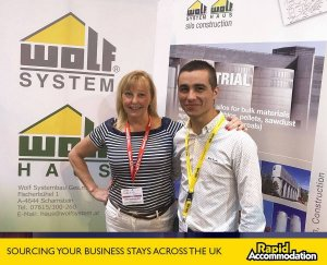 Our Director Linda catches up with Wolf Systems at ADBA World Biogas Expo 2017