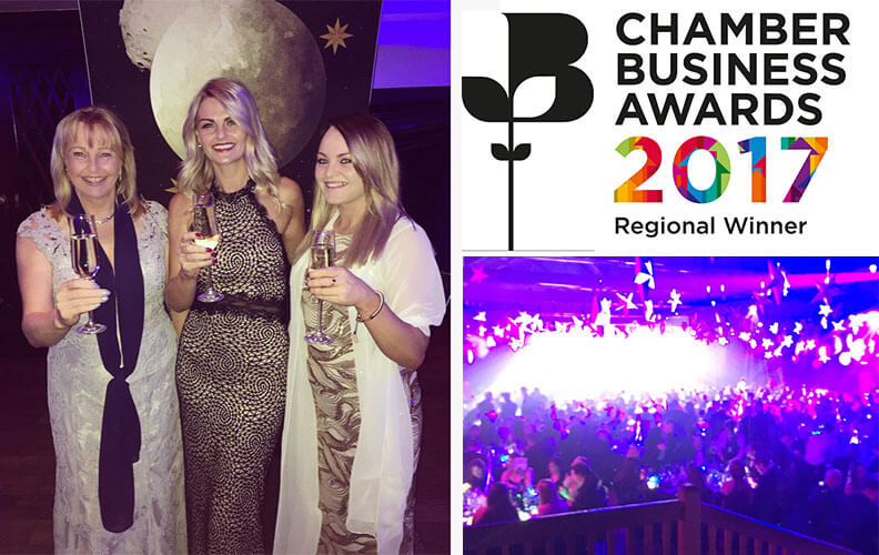 Team Rapid Accommodation at the Chamber Business Awards 2017
